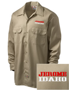 Jerome Embroidered Dickies Men's Long-Sleeve Workshirt
