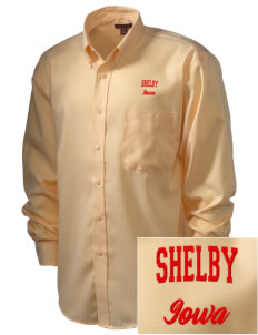 Shelby  Embroidered Men's Nailhead Non-Iron Button-Down