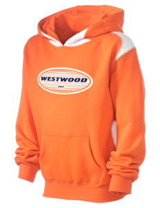 Westwood Kid's Pullover Hooded Sweatshirt with Contrast Color