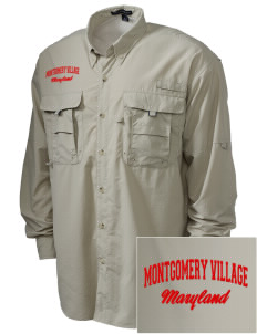 Montgomery Village Embroidered Men's Explorer Shirt with Pockets