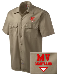 Montgomery Village Embroidered Dickies Men's Short-Sleeve Workshirt