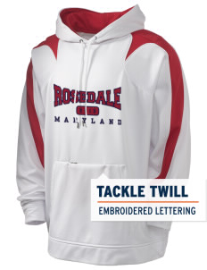 Rosedale Holloway Men's Sports Fleece Hooded Sweatshirt with Tackle Twill