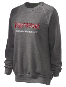 Popponesset Unisex Alternative Eco-Fleece Raglan Sweatshirt with Distressed Applique