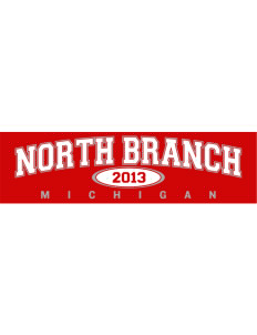 "North Branch Bumper Sticker 11"" x 3"""