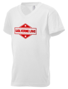 Wolverine Lake Kid's V-Neck Jersey T-Shirt