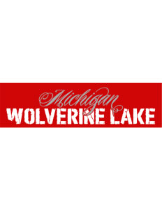 "Wolverine Lake Bumper Sticker 11"" x 3"""