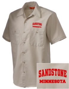 Sandstone Embroidered Men's Cornerstone Industrial Short Sleeve Work Shirt