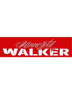"Walker Bumper Sticker 11"" x 3"""
