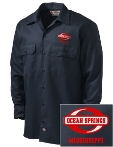 Ocean Springs Embroidered Dickies Men's Long-Sleeve Workshirt