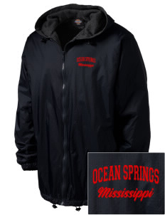 Ocean Springs Embroidered Dickies Men's Fleece-Lined Hooded Jacket