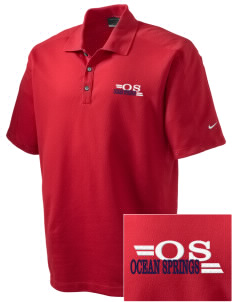 Ocean Springs Embroidered Nike Men's Dri-FIT Pique II Golf Polo