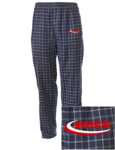 Anniston Embroidered Men's Button-Fly Collegiate Flannel Pant