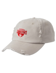 Camden Point Embroidered Distressed Cap