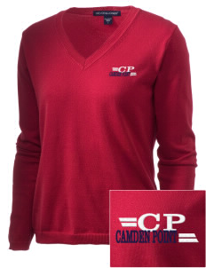 Camden Point Embroidered Women's V-Neck Sweater