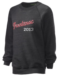 Frontenac Unisex Alternative Eco-Fleece Raglan Sweatshirt with Distressed Applique
