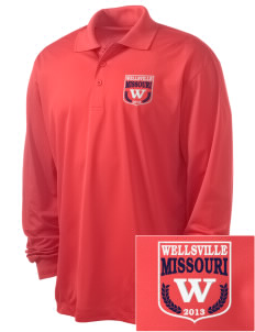 Wellsville Embroidered Men's Long Sleeve Micropique Sport-Wick Sport Shirt
