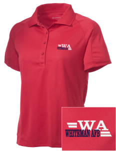 Whiteman AFB Embroidered Women's Polytech Mesh Insert Polo