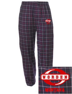 Worden Embroidered Men's Button-Fly Collegiate Flannel Pant