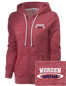 Worden Embroidered Women's Marled Full-Zip Hooded Sweatshirt