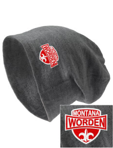 Worden Embroidered Slouch Beanie