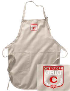 Carroll Embroidered Full-Length Apron with Pockets