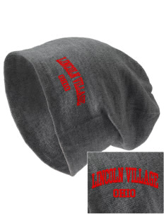 Lincoln Village Embroidered Slouch Beanie