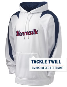 Monroeville Holloway Men's Sports Fleece Hooded Sweatshirt with Tackle Twill