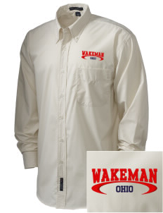Wakeman  Embroidered Men's Easy Care, Soil Resistant Shirt