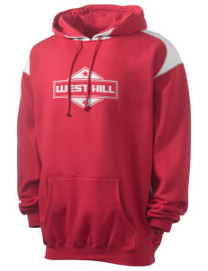 West Hill Men's Pullover Hooded Sweatshirt with Contrast Color