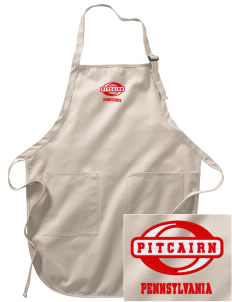 Pitcairn Embroidered Full-Length Apron with Pockets