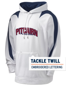 Pitcairn Holloway Men's Sports Fleece Hooded Sweatshirt with Tackle Twill