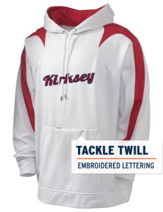 Kirksey Holloway Men's Sports Fleece Hooded Sweatshirt with Tackle Twill