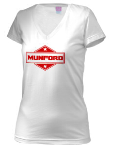 Munford Juniors' Fine Jersey V-Neck Longer Length T-shirt