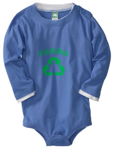Fort Hunt  Baby Long Sleeve 1-Piece with Shoulder Snaps