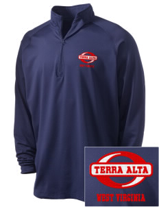 Terra Alta Embroidered Men's Stretched Half Zip Pullover