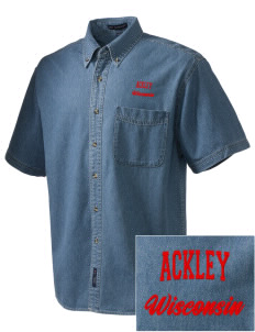 Ackley  Embroidered Men's Denim Short Sleeve