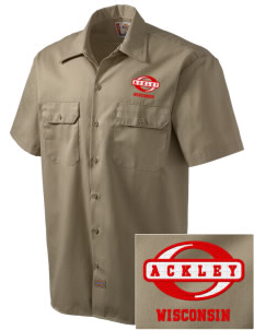 Ackley Embroidered Dickies Men's Short-Sleeve Workshirt