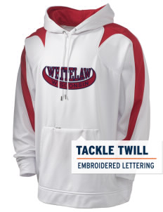 Whitelaw Holloway Men's Sports Fleece Hooded Sweatshirt with Tackle Twill