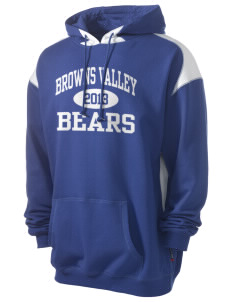 Browns Valley Elementary School Bears Men's Pullover Hooded Sweatshirt with Contrast Color