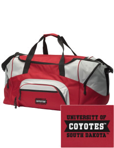 University of South Dakota Coyotes Embroidered Colorblock Duffel Bag