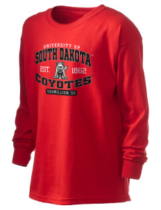 University of South Dakota Coyotes Kid's 6.1 oz Long Sleeve Ultra Cotton T-Shirt