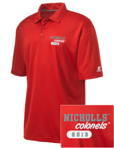 Nicholls State University Colonels Embroidered Russell Coaches Core Polo Shirt