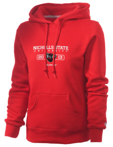 Nicholls State University Colonels Russell Women's Pro Cotton Fleece Hooded Sweatshirt