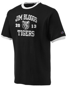 Jim Bloggs School Tigers Champion Men's Ringer T-Shirt