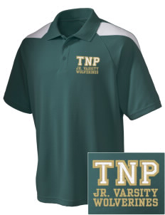 True North Prep Wolverines Embroidered Holloway Men's Frequency Performance Pique Polo