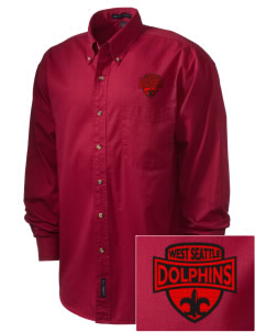 West Seattle YMCA Dolphins Embroidered Men's Twill Shirt