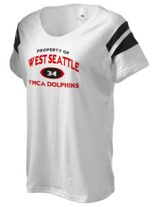 West Seattle YMCA Dolphins Holloway Women's Shout Bi-Color T-Shirt
