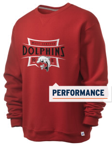 West Seattle YMCA Dolphins  Russell Men's Dri-Power Crewneck Sweatshirt