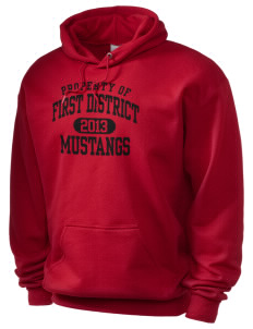 First District Elementary School Mustangs Holloway Men's 50/50 Hooded Sweatshirt