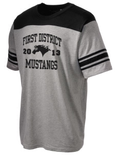First District Elementary School Mustangs Holloway Men's Champ T-Shirt